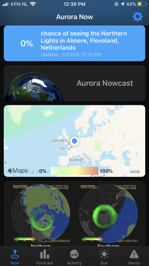 Photography apps Aurora Forecast screenshot